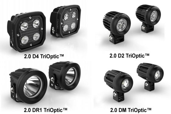 Denali 2.0 adventure bike light kits.