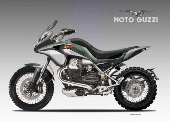 Adventure Motorcycle Moto Guzzi Concept by Oberdan Bezzi