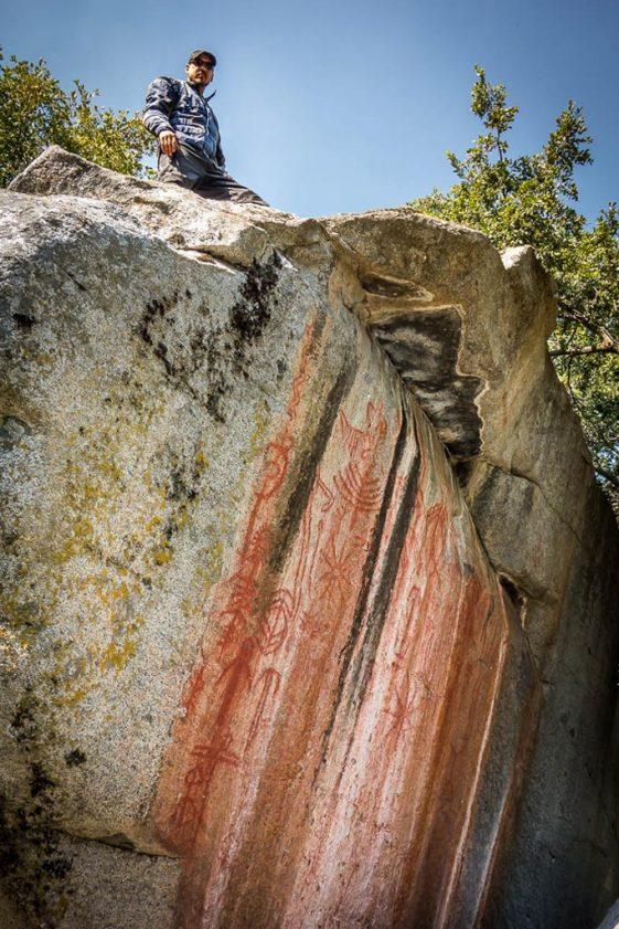 Pictographs at Hospital Rock Sequoia National Park