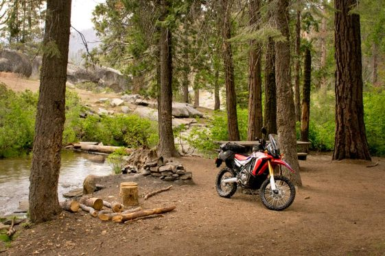 Camp spot in Sequoia National Forest