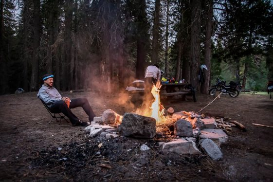 Campfire in the Sequoia National Park