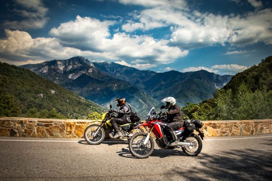 Riding on the Generals Highway in Sequoia National Park