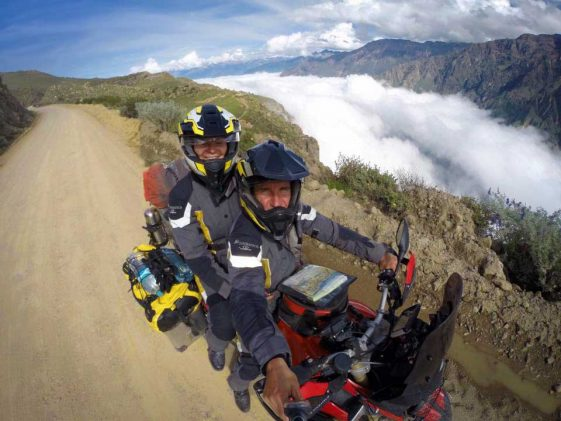 Adventure Motorcycle pillion travel