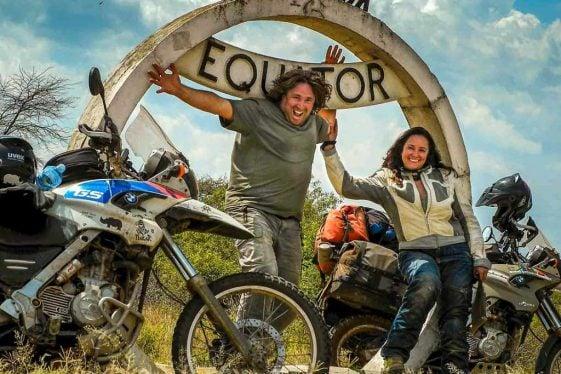 Biaya untuk keliling dunia: Michnus dan Elsebie Olivier Suzuki DR650