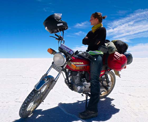 RTW Travel with different adventure motorcycles