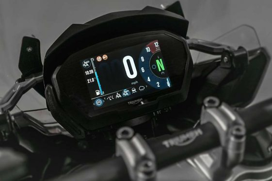Triumph Tiger 1200 TFT Display Review Adventure Bike