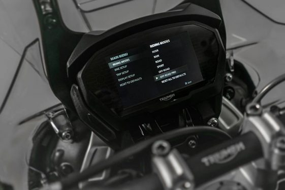 Triumph Tiger 800 riding modes