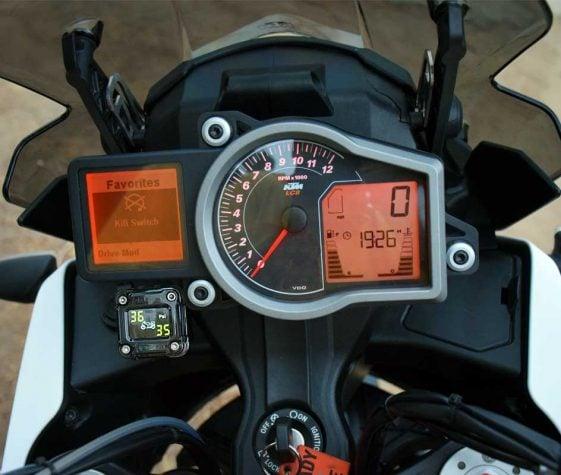 Motorcycle TPMS on KTM 1090 Adventure R