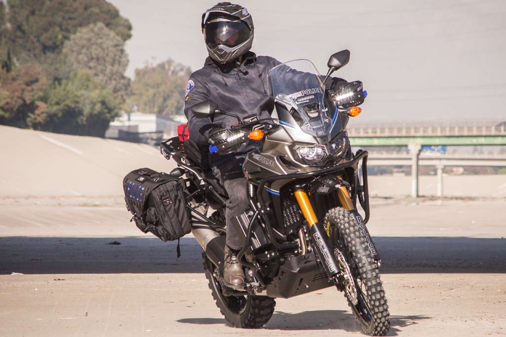 Pro Taper Handlebars >> Meet the Africa Twin Police Bike Build by Roland Sands ...