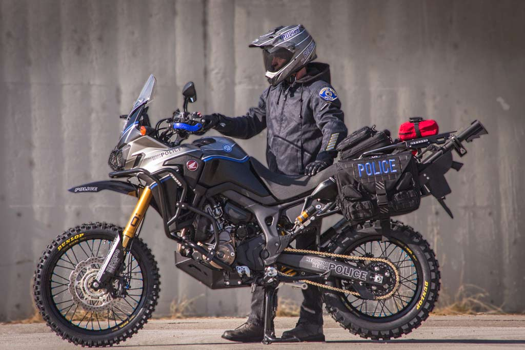 meet the africa twin police bike build by roland sands. Black Bedroom Furniture Sets. Home Design Ideas