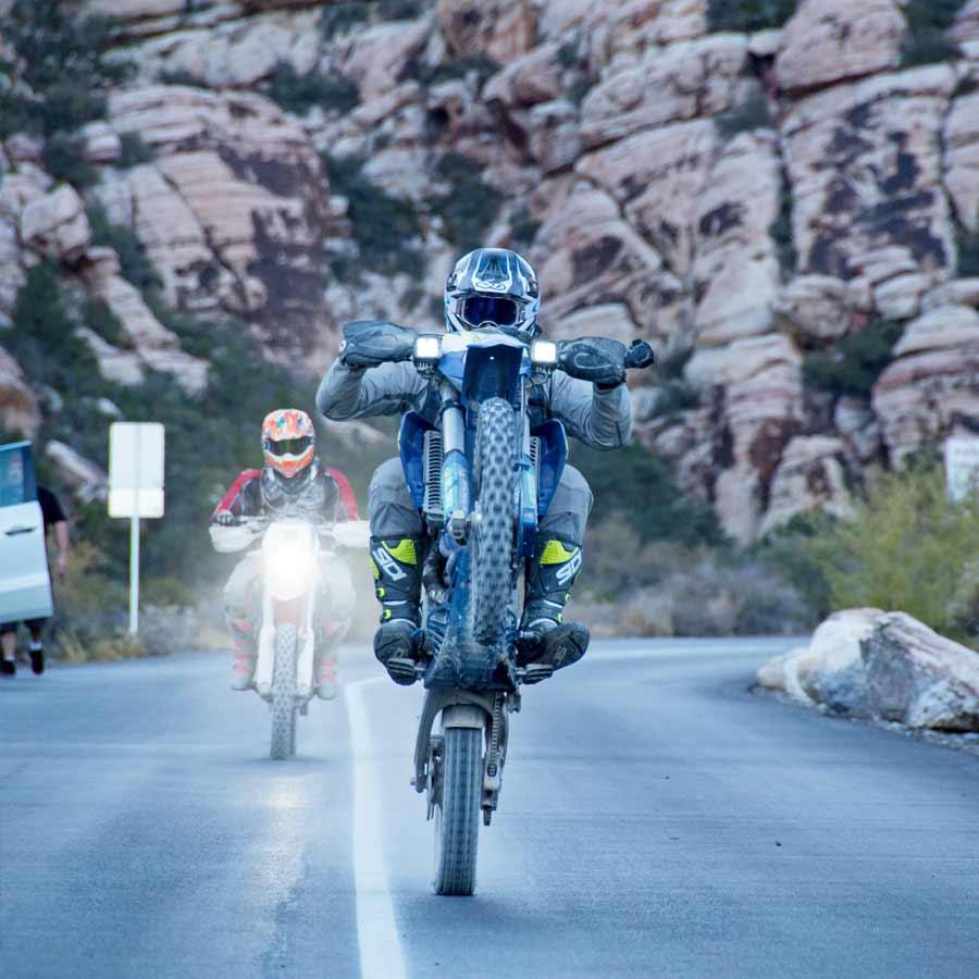 Los Angeles Barstow to Vegas on Big Bikes