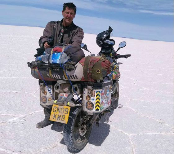 Cost to travel the world: Spencer Conway Yamaha Tenere XT660z