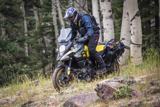 Suzuki V-Strom 1000XT Adventure Motorcycle on the road