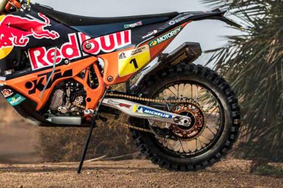 New 2018 KTM 450 Rally motorcycle making its Dakar Debut