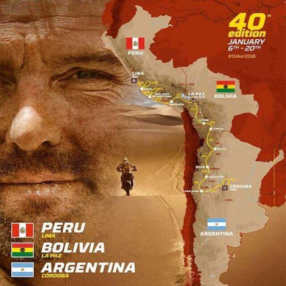 Dual Sport Dakar 2018 Rally Route