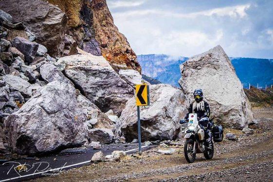 Avoiding landslide Copper Canyon Mexico