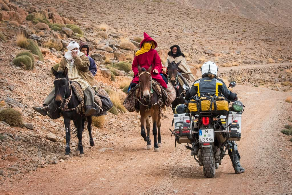 Riding a motorcycle around the world