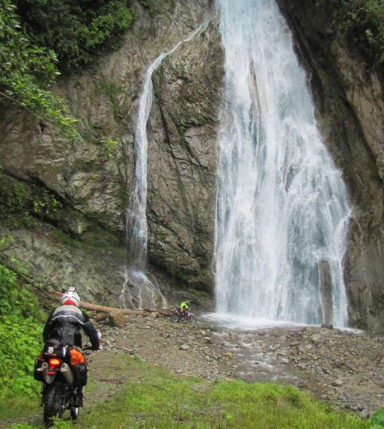 Ecuador Dualsport motorcycle bucket list ride waterfalls