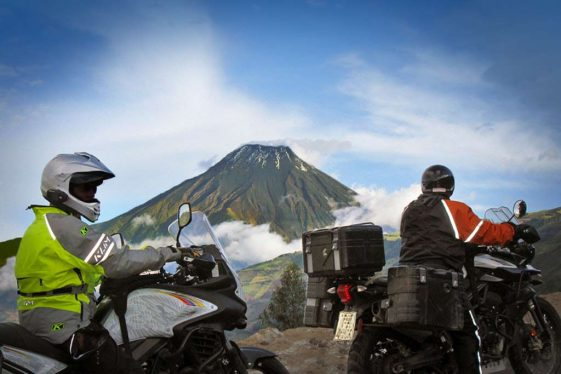 Ecuador bucket list motorcycle ride by volcano