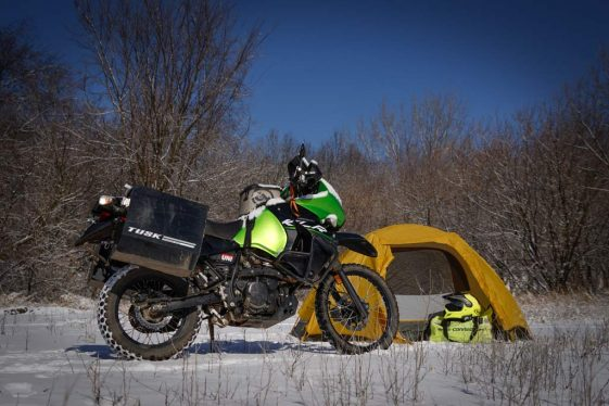 Motorcycle Camping in cold weather