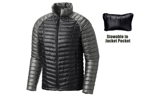 Down Jacket Cold Weather Camping on a Motorcycle
