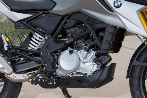 BMW G310GS adventure motorcycle engine