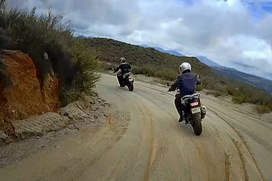 dirt track riding on the BMW G310GS