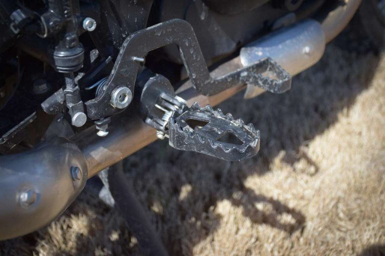 Royal Enfield Himalayan Adventure Motorcycle footpegs