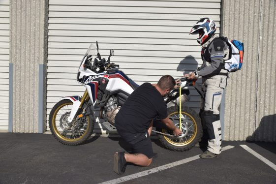 Africa Twin How to Set up Suspension Sag on Adventure Motorcycle