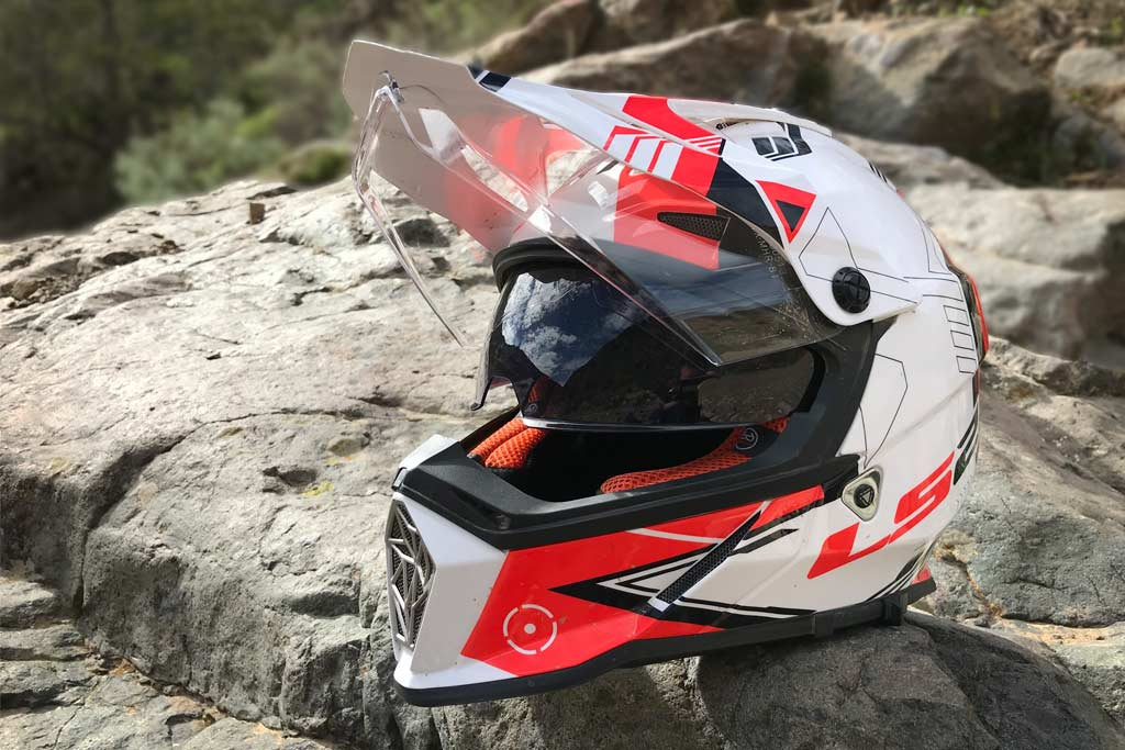 b84734e6 While LS2 might not be the first name in helmets, their Pioneer MX436 is a  feature-packed dual-sport lid that caught my attention.