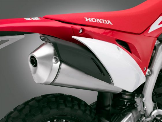 2019 Honda CRF450L Dual Sport Motorcycle noise reductions