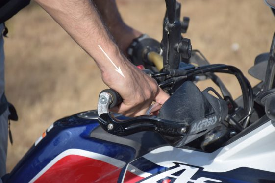 Adventure Motorcycle controls