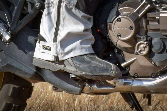 Adventure Motorcycle pedal adjustments
