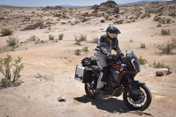 KTM 1290 Super Adventure S riding to Overland Expo West