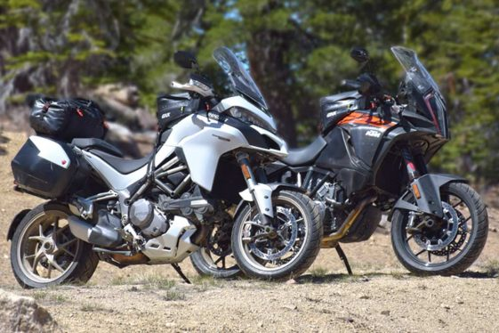 KTM 1290 Super Adventure vs. Ducati Multistrad 1260 at the Overland Expo West 2018