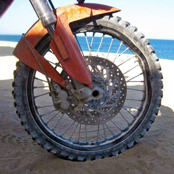 Adventure Motorcycle spoke wheel