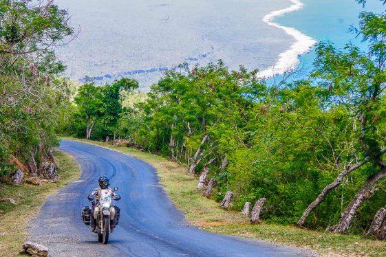 Riding across Cuba