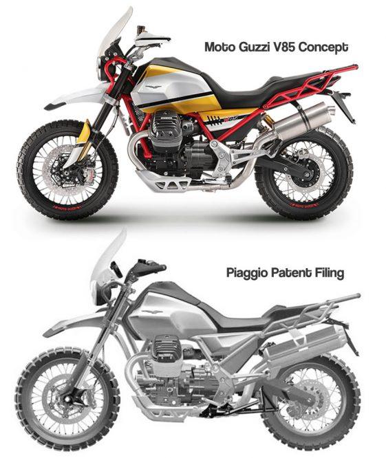 Moto Guzzi V85 Adventure Motorcycle