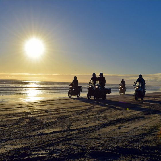 Riding on the beach in Baja