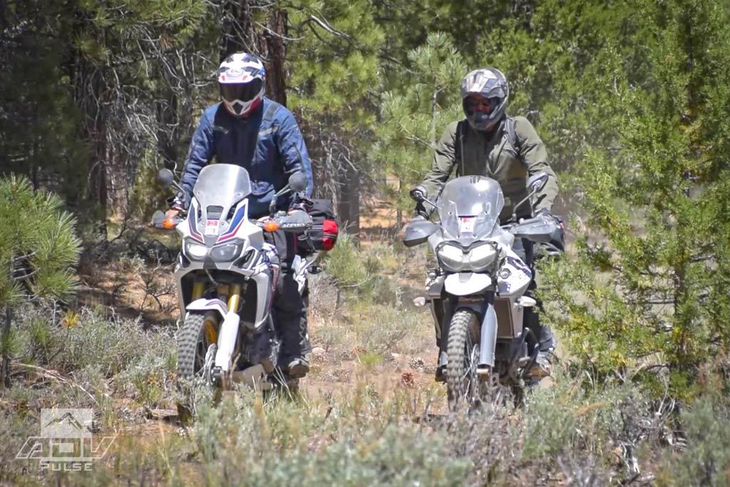 Honda Africa Twin Adventure Motorcycle rocky uphill