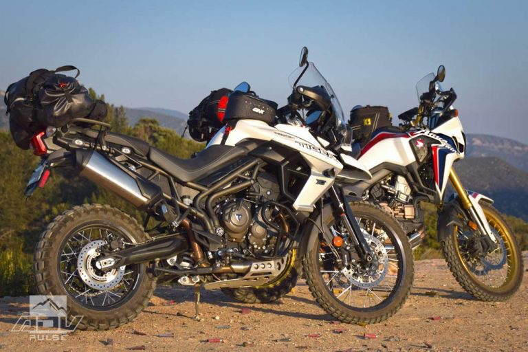 Honda Africa Twin Adventure Motorcycle rocky uphill