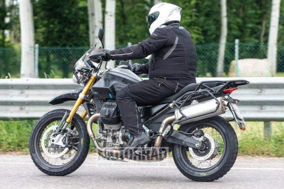Moto Guzzi Middleweight Adventure Bike spy shot
