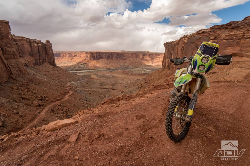 Riding Top of the World rides in Moab on an Dual Sport