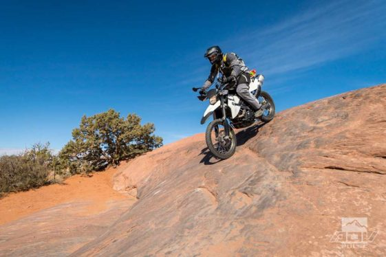 Slickrock trail; Motorcycle rides in Moab