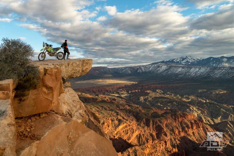 Riding Top of the World rides in Moab on an Adventure Motorcycle