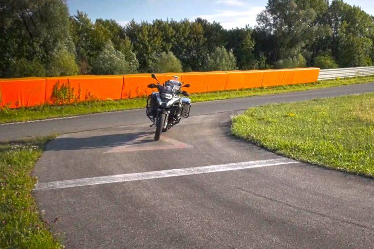 Self-balancing self-driving BMW R1200GS Adventure Motorcycle