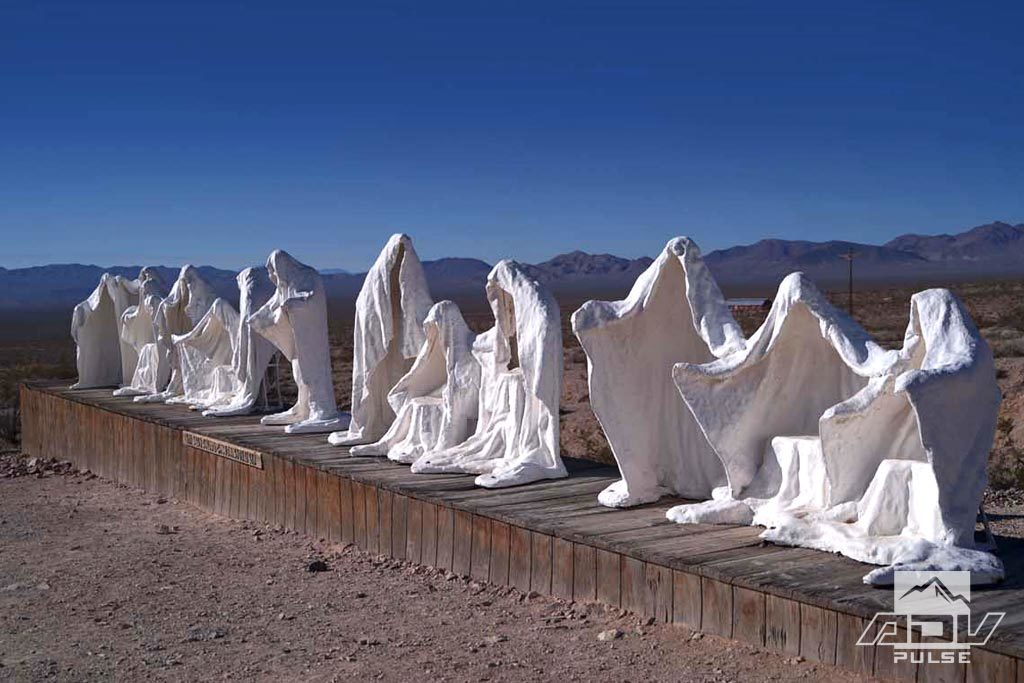 Goldwell Open Air Museum in Rhyolite, Nevada.