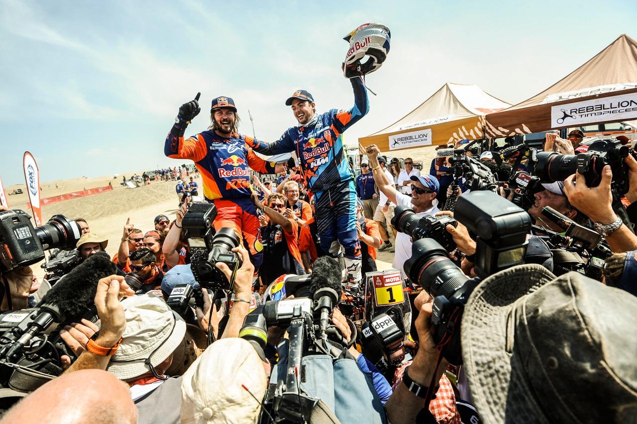 Toby Price and Matthias Walkner Dakar 2019