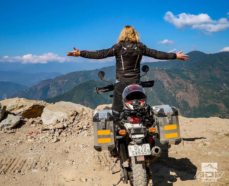 Noraly Schoenmaker Riding the world on a Royal Enfield Himalayan