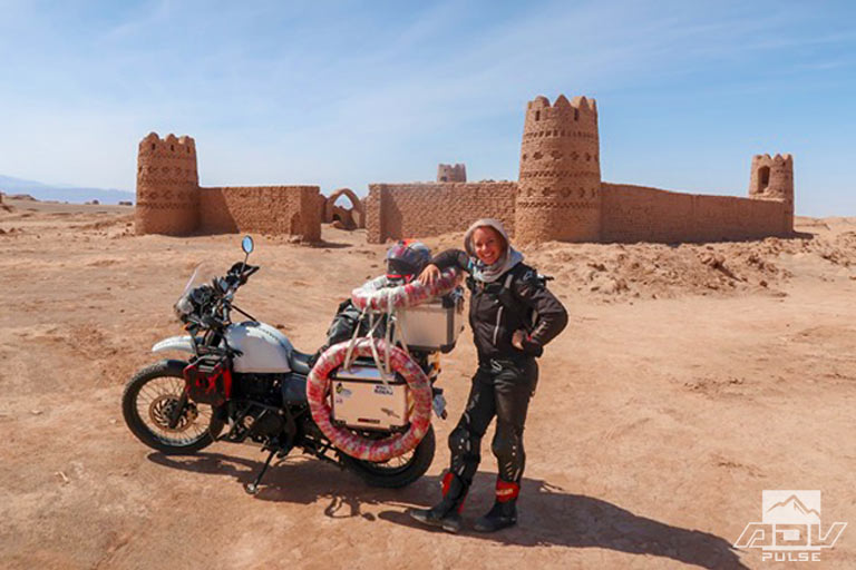 Female Rider Sells Everything to Ride The World Solo on a Himalayan
